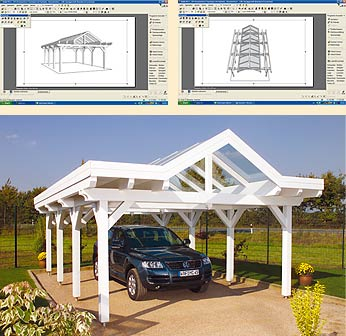 Individuelle 3D-Planung ihres Carports